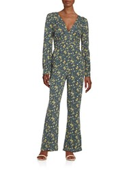 Free People Patterned Hot Jumpsuit Midnight Combo