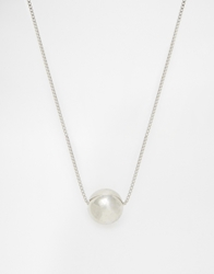 Weekday Sphere Pendant Necklace Silver