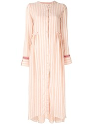 Lemlem Striped Shirt Dress Pink