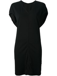 Rick Owens Drkshdw V Neck Sweater Dress Black