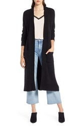 Halogen Long Sweater Coat Black