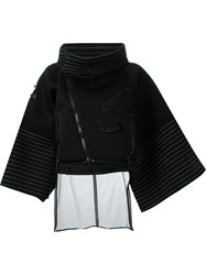 Ktz Oversized Biker Jacket Black