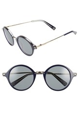 Women's Loewe 54Mm Round Retro Sunglasses Navy Blue