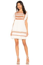 Free People Sunrise Wanderer Mini Dress White