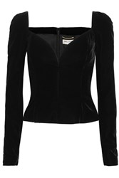 Saint Laurent Velvet Top Black