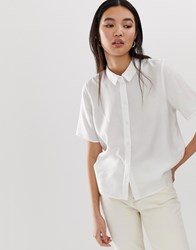 Selected Femme Short Sleeve Shirt White
