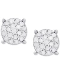 Victoria Townsend Diamond Cluster Stud Earrings 1 4 Ct. T.W. In Sterling Silver