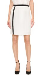 J. Mendel Micro Pleated Skirt Ivoire