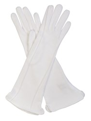 Cornelia James Regina Pure Cotton Gloves White
