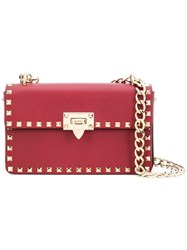 Valentino Small Garavani Rockstud Shoulder Bag Red