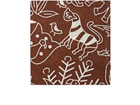 Barneys New York Men's Animal And Floral Print Linen Pocket Square Brown