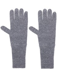 Allude Knit Gloves Grey