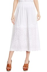 Women's Two By Vince Camuto Embroidered Border Midi Skirt