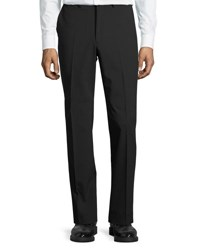 Dkny Wool Blend Straight Leg Trousers Black