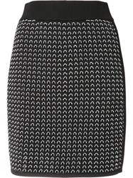 Rag And Bone Fitted Knitted Skirt Black