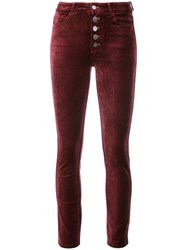 Paige Hoxton Skinny Trousers Red
