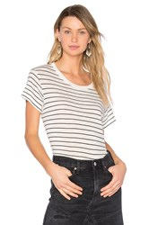 Vince Classic Stripe Tee Black And White