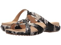 Crocs Meleen Twist Graphic Sandal Black Floral Women's Sandals