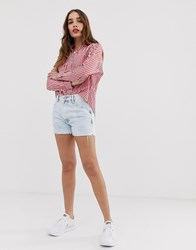 Tommy Jeans Denim Hotpant Short With Raw Hem Blue