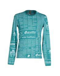 John Galliano Underwear Underwear Undershirts Men Green