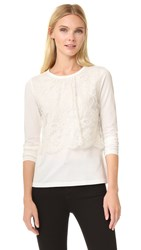 Leur Logette Front Lace Long Sleeve Top White
