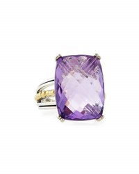 Lagos Prism Amethyst Cocktail Ring Purple