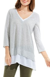 Vince Camuto Women's Two By Mixed Media Tunic
