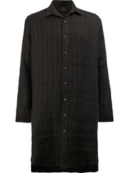 L'eclaireur Boston Long Length Shirt Black