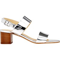 Barneys New York Women's Double Band Slingback Sandals Silver
