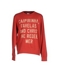 Sun 68 Topwear Sweatshirts Men Red