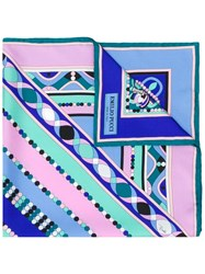 Emilio Pucci Abstract Print Scarf Blue
