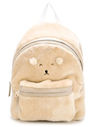 Joshua Sanders Teddy Bear Backpack Nude And Neutrals