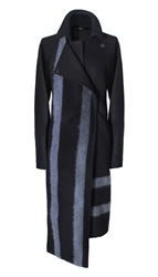 Tibi Needle Felted Wool Asymmetrical Coat