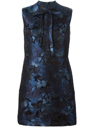 Valentino Butterfly Jacquard Mini Dress Blue