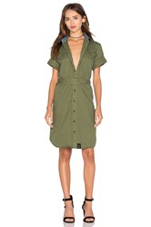 G Star Rovic Shirt Dress Olive