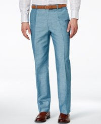Inc International Concepts Neal Linen Slim Fit Pants Only At Macy's Teal
