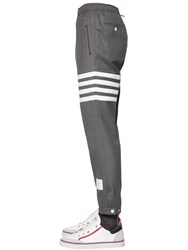 Thom Browne Wool Twill Pants W Drawstring Grey