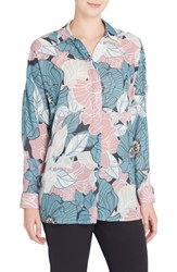Catherine Malandrino Women's Jay Floral Blouse Sketchy Floral