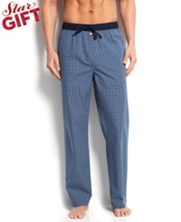 Tommy Hilfiger Men's Printed Woven Pajama Bottoms Blueberry