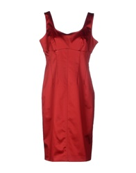 Caractere Knee Length Dresses Red