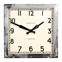 Newgate Quad Clock Stainless Steel