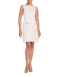 Karl Lagerfeld Button And Chain Detailed Sheath Dress Rose