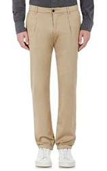 Barena Venezia Pleated Twill Trousers Nude Size 52 Eu