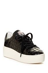 Ash Cult Embossed Leather Platform Sneaker Black