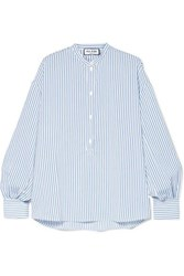Paul And Joe Oversized Striped Woven Top Blue
