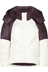 Maje Two Tone Quilted Shell Jacket White