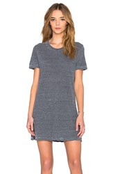 Monrow X Revolve Vintage Burn Out Oversized Tee Dress Navy
