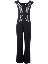 Peter Pilotto Embroidery Cady Jumpsuit Black