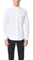 Theory Sylvain Solid Dress Shirt White