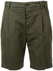 Aspesi Straight Leg Shorts Green